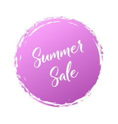 summer sale handwritten word with color circle vector image