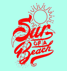sun a beach vector image