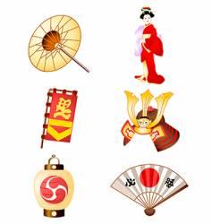 symbols of japan culture vector image