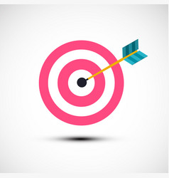 target icon symbol with dart in centre vector image