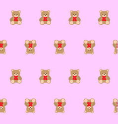 teddy bear kids seamless pattern vector image