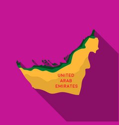 Territory of united arab emirates icon in flat vector