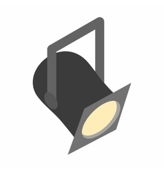Theater spotlight icon isometric 3d style vector