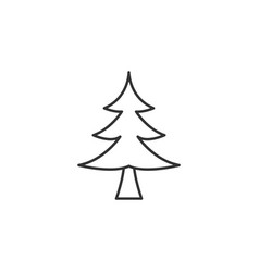 tree christmas line icon simple modern flat for vector image