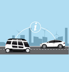Vehicle to vehicle communication vector