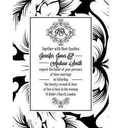 Vintage delicate formal invitation card vector
