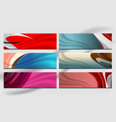 wave banner design vector image