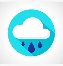 weather downpour rain icon vector image