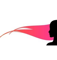 woman profile silhouette vector image