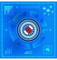 Biometric technology eye vector image vector image