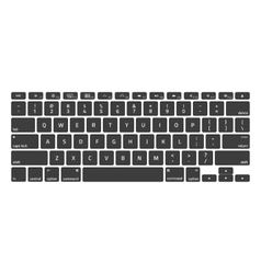 Black Keyboard Stroke QWERTY vector image