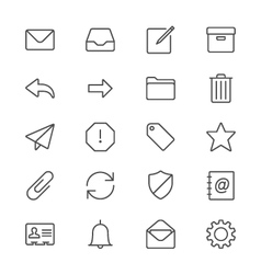 Email thin icons vector image