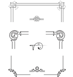 set for the decoration of the page vector image