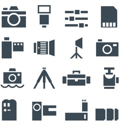 Set icons photo accessories vector image