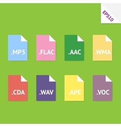 Audio file formats vector image vector image
