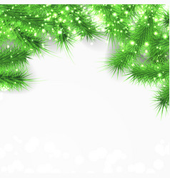 bright shimmering fir tree layout card vector image