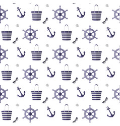 pattern on the sea theme vector image