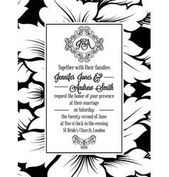 Vintage delicate formal invitation card vector
