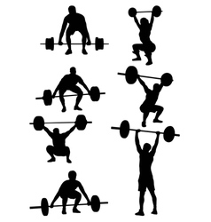Weightlifting Silhouettes vector image