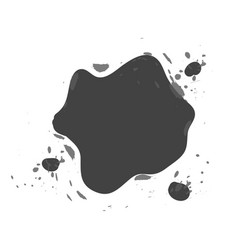 shaped and sized abstract ink blots isolated on vector image vector image