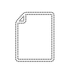 vertical document sign black vector image