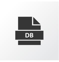 database icon symbol premium quality isolated vector image vector image