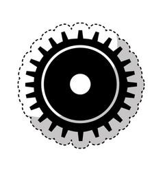 gear machine setup icon vector image