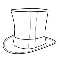top hat for gentleman vector image