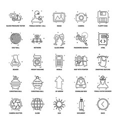 25 business concept mix line icon set vector image