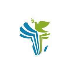 Africa dove peace freedom day bird animal vector