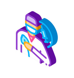 Anesthesiologist medical worker isometric icon vector