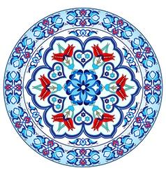 Antique ottoman turkish pattern design thirty vector image