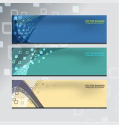 banner of web design vector image