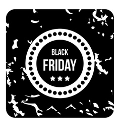 Big black friday icon grunge style vector image