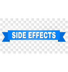 Blue stripe with side effects title vector