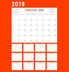 calendar planner stationery design template for vector image