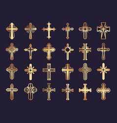 christians cross religion symbols jesus vector image