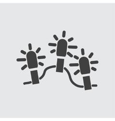 Christmas light icon vector image