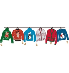Christmas sweaters vector
