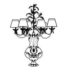 Classic Baroque exquisite lamp vector