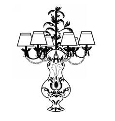 Classic Baroque exquisite lamp vector image