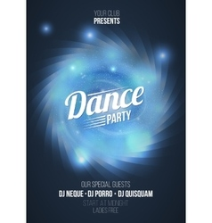Dance party in light frame on blue flame vector