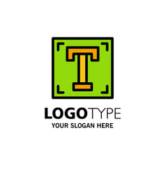 Designer font path program text business logo vector