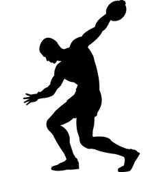 Discus thrower vector
