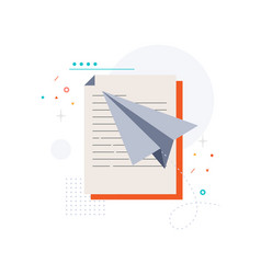 Document and aircraft vector