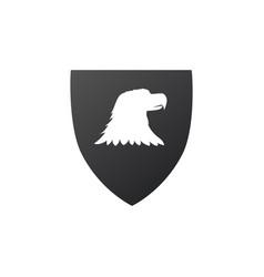 eagle head in shield icon graphic mascot vector image