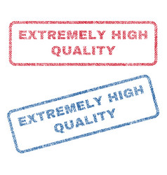 Extremely high quality textile stamps vector