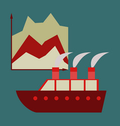 Flat icon on stylish background cruise ship vector
