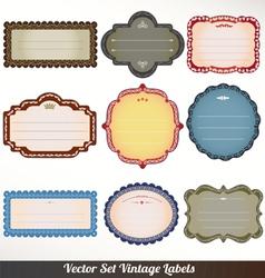 Frame labels set ornamental vintage vector
