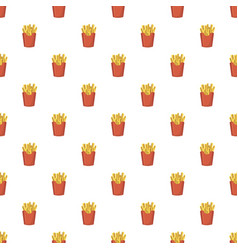 French fries potato pattern vector